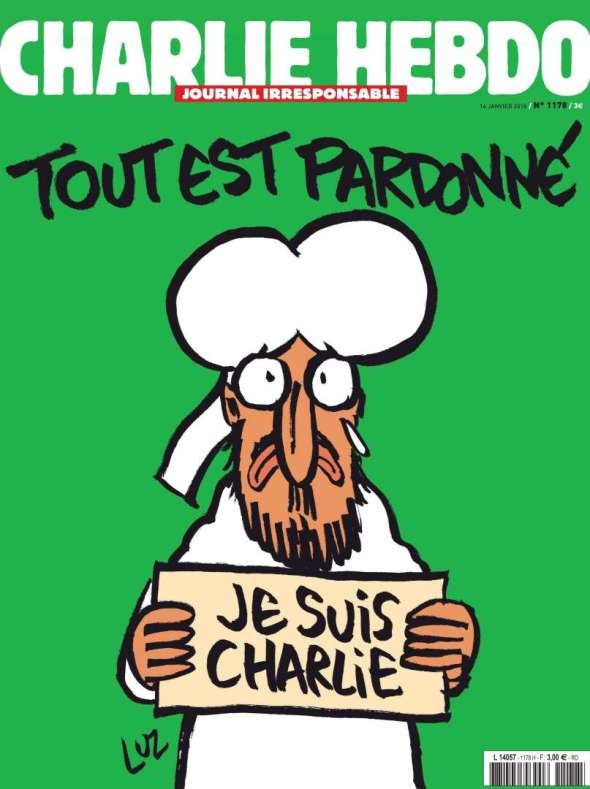 Front page of the upcoming edition of Charlie Hebdo